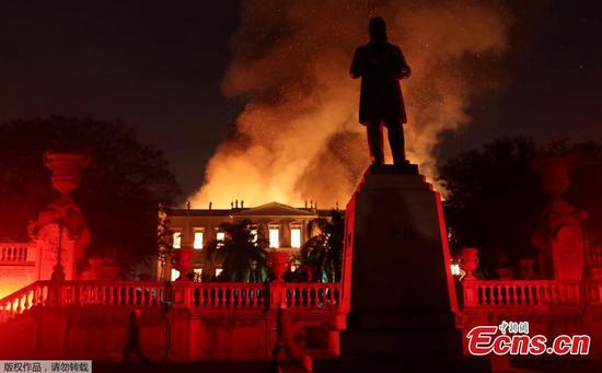 Fire rips through 200-year-old Rio de Janeiro museum in 'sad day for all Brazilians'