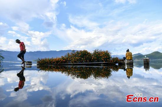 Famed Lugu Lake overflows after rainstorm