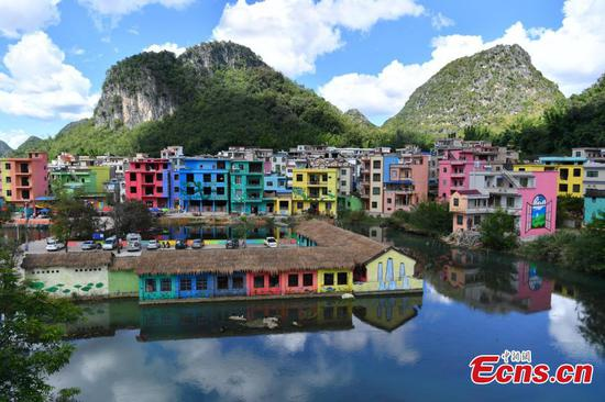 Colorful buildings expected to boost rural tourism