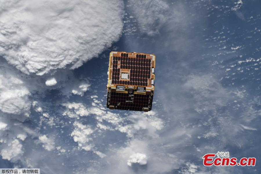On June 20, 2018, the International Space Station deployed the NanoRacks-Remove Debris satellite into space from outside the Japanese Kibo laboratory module. This technology demonstration was designed to explore using a 3D camera to map the location and speed of orbital debris or \